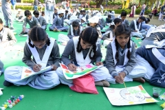 Children Participating at Drawing Competition During Eco Spiritual Fest 17 Dec 2016E